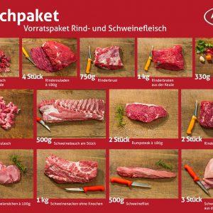 Fleischpaket, Vorratspaket Rind- und Schweinefleisch